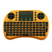 其他 美国Rii mini i8  迷你无线键盘 全键盘 2.4G无线连接 无线套装 黄色 2.4G无线