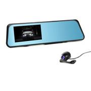 凌变者 X7双镜头4.3英寸原车后视镜1080P高清广角夜视行车记录仪 官方标配+16G