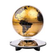 生活演绎 高档6寸LED灯发光自转磁悬浮地球仪 办公室摆件居家装饰 黑金