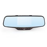奥克龙 双镜头蓝镜 后视镜行车记录仪4.3寸屏夜视高清1080P汽车行驶记录仪 OK-02 蓝屏防炫目 16G高速卡