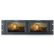 瑞鸽 TLS701HD-2 7寸16:9款双联高清机柜型监视器HD/SD大监机柜 HD信号