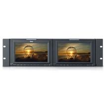 瑞鸽 TLS701HD-2 7寸16:9款双联高清机柜型监视器HD/SD大监机柜 HD信号产品图片主图