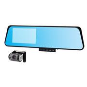 小霸王 行车记录仪MX800 1080P超高清记双摄像红外夜视王超广角蓝屏防炫目后视记录仪 蓝色 标配+8G卡
