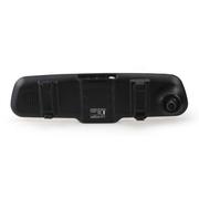爱酷巴 行车记录仪高清广角1080P后视镜行车记录仪双镜头行车记录仪 土豪金双镜头1200W带净化器