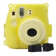 彩友乐 拍立得mini8相机水晶壳 mini8保护壳 夜光壳 彩色壳 夜光黄色