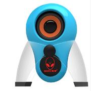 本手 X5 2.0外星人多媒体迷你单体小音箱 带logo七彩呼吸灯 蓝色
