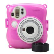 彩友乐 拍立得mini25相机水晶壳 mini25相机彩色保护壳 夜光壳 夜光玫红色