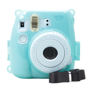 彩友乐 拍立得mini8相机水晶壳 mini8保护壳 夜光壳 彩色壳 夜光蓝色