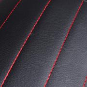 中德 开车护腰皮革腰靠 透气汽车坐垫专用腰靠对装 黑色