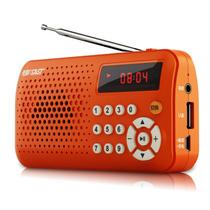 先科 迷你音响便携式插卡收音机老人晨练外放小音箱mp3播放器散步 蓝色 标配产品图片主图