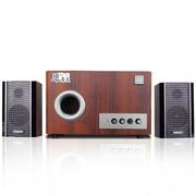 恩科 S2850 多媒体2.1音箱木质电脑组合低音炮音响 褐色