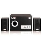 恩科 S2850 多媒体2.1音箱木质电脑组合低音炮音响 黑色