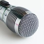 其他 星马 AK-308有线/无线话筒KTV麦克风 音响电视K歌 家用卡拉OK 家庭DVD麦克风 银色