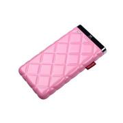 灵骁 迷你苹果6充电宝5s/4s 三星小米苹果移动电源 安卓手机通用 聚合物电芯 粉红色 7000毫安