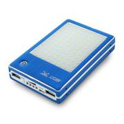 达客 停电野营车载 强光LED照明灯 手机通用充电宝 4s/5s移动电源 15000毫安 浅蓝色