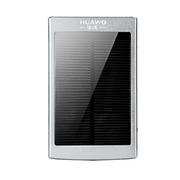 华沃 太阳能移动电源充电宝 10400毫安双USB充电器带手电筒手机ipd通用 银色