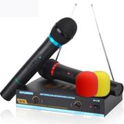 现代 韩国 无线麦克风 话筒电脑k歌专用 一拖二网络电容双手麦会议舞台通用 N-15