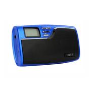 火特 S027 便携口袋音响  插卡收音机 支持TF卡带录音机 BL-5B锂电池 蓝色+TF卡8G