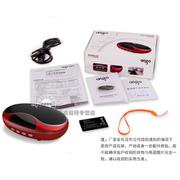 aigo F033小音箱 FM便携式迷你音响 Mp3音乐播放器 可插卡或U盘播放 中国红 标配+8G卡+充电器+读卡器