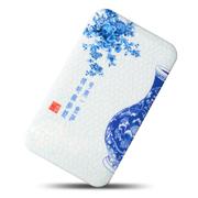 TXR 512超薄青花瓷三星苹果小米手机通用充电宝 10000毫安聚合物移动电源 冲电宝 青花瓶 标配+充电头