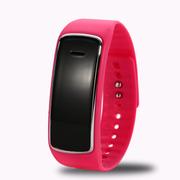 喜木 手环智能 穿戴运动计步器 睡眠监测远程拍摄手表 IOS/安卓系统监控防盗蓝牙腕带 红色.