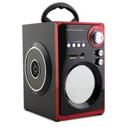 SENBOWE 便携式手提插卡音箱老人户外广场舞多媒体2.1音响移动充电低音炮FM带收音机 炫酷黑色