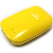 数码王 暖手宝6600毫安移动电源USB充电个性创意迷你电热宝充电宝 黄色 充电宝+usb充电头