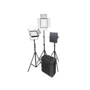 富莱仕 D1296S影视灯套装微电影灯摄像灯可调色温三灯套装 含灯架版