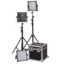 富莱仕 K4000S LED影视灯三灯套装led摄像灯套装微电影灯光摄影led外拍灯 含灯架版产品图片主图