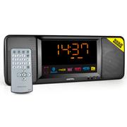 利视达 752b卧室大屏幕时钟低音立体声无线蓝牙音响床头无线遥控闹钟音箱可插卡FM收音机 黑色