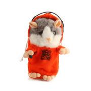Turbospoke 会学说话的录音DJ鼠 圣诞礼物 橙色