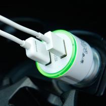 泰溥 车载充电器iPhone苹果三星手机点烟器万能型车充双usb汽车充电器 颜色随机发货产品图片主图