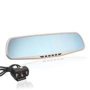 奥赛克 双镜头高清超广角行车记录仪 4.3寸超清大屏 循环录影不漏秒 支持重力感应 超大蓝镜眩款