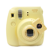 彩友乐 拍立得相机mini8/mini7s通用自拍镜 卡通相机款 黄色