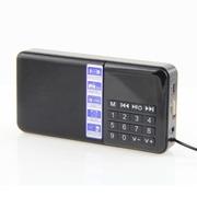 大米 SD-111迷你便携式插卡收音机1.2寸迷你播放机多功能插卡音箱七彩数字屏幕显示 黑色