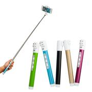 Iwanna 北合 苹果 iphone自拍杆 自拍神器 适用用三星 小米 华为 安卓手机 蓝色
