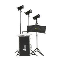 U2 Photo Flash200W 摄影灯套装 静物证件照摄影棚拍摄器材 三灯套装产品图片主图