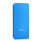 leik 正品超薄锂聚合物电池移动电源10000毫安充电宝手机电池通用移动冲电宝大容量 天蓝色