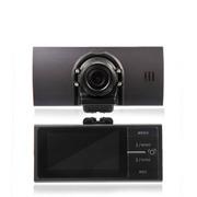 奥赛克 双镜头超广角行车记录仪 2.7寸镁铝合金机身 循环录影不漏秒 支持重力感应 黑色