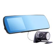 途美 车载后视镜行车记录仪双镜头一体机1080P高清夜视H900 双镜头 标配(无卡)