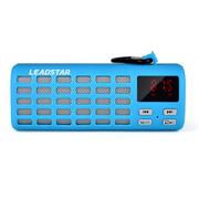 利视达 MX016 户外无线NFC蓝牙音响插卡迷你音箱便携式多功能立体声音效低音炮 浅蓝色体感橡胶漆