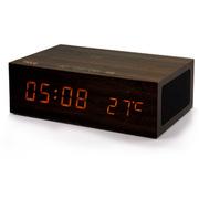 SENBOWE 无线蓝牙音响 NFC木质闹钟免提通话手机充电蓝牙音箱便携低音炮通用型 橡树木色