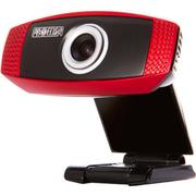第一印象 U6高清网络电脑摄像头 免驱 内置麦克风 QQ视频特效 红色