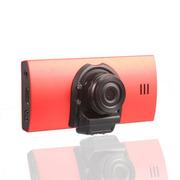 奥赛克 双镜头超广角行车记录仪 2.7寸镁铝合金机身 循环录影不漏秒 支持重力感应 红色