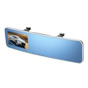 商佑 后视镜4.3寸行车记录仪 曲面高清广角夜视双镜头 标配+8G