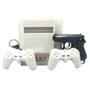 小霸王 FC电视游戏机D31 怀旧经典8位家用红白机双手柄带游戏手枪含4合1 400合1卡带