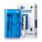 博皓 牙刷消毒器UV紫外线牙刷杀菌盒 壁挂式牙刷架2043 透明蓝产品图片1