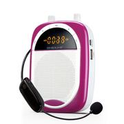 十度 S610 2.4G无线扩音器 小蜜蜂扩音器教师教学专用 无线自动对码  音质清晰音量 绚丽紫丨送有线麦+充电器