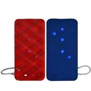 索罗卡 UPower Mix融(1+1)创意移动电源-蓝+红色
