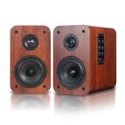 奇声 aidu/爱度ay820电脑2.0音箱 HIFI有源桌面书架木质音响 低音炮 胡桃木色